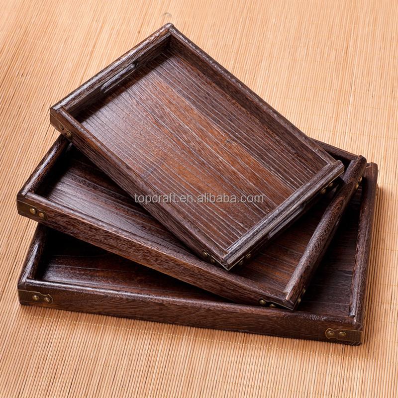 2015 nouveau produit en chine en bois plateau de service avec garnitures en m tal h tel. Black Bedroom Furniture Sets. Home Design Ideas
