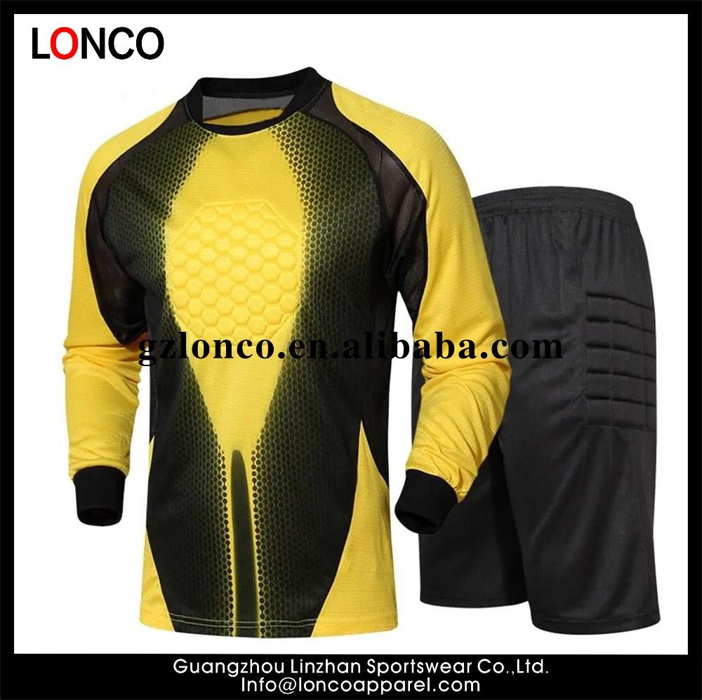 2016 adultos fútbol portero Jersey hombres portero uniformes trajes de  manga larga personalizado sublimado equipo de bd5965838b377