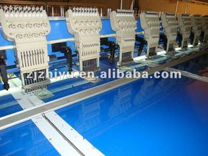 Multi heads laser embroidery machine