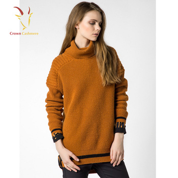Womens Korean Long Neck Merino Wool Sweater For Winter , Buy Korean Long  Neck Sweaters,Womens Merino Wool Sweater,Women Sweater For Winter Product  on