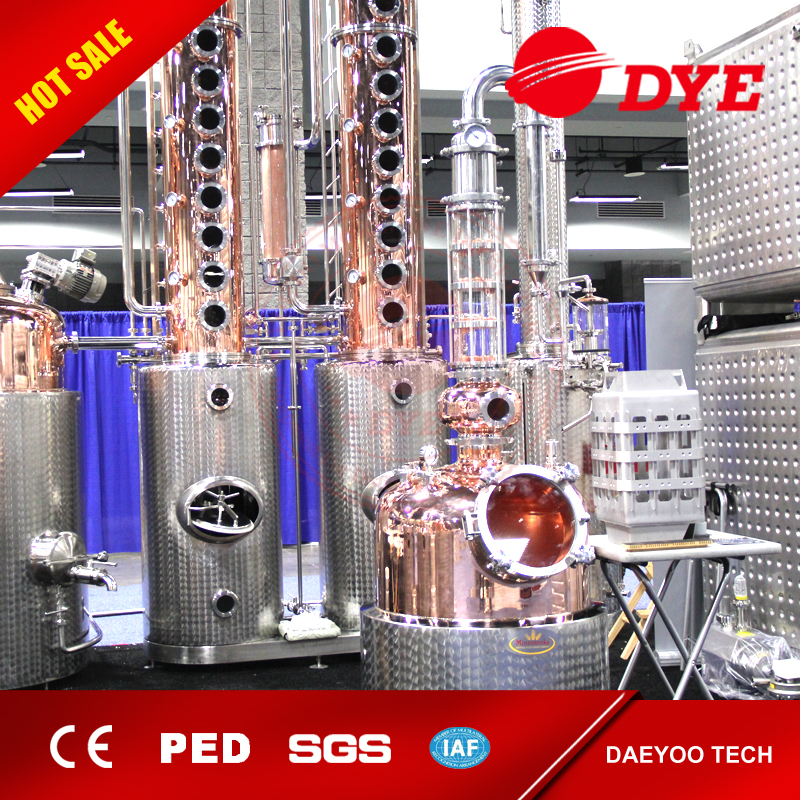 industrial distillation column for making whisky rum brandy gin