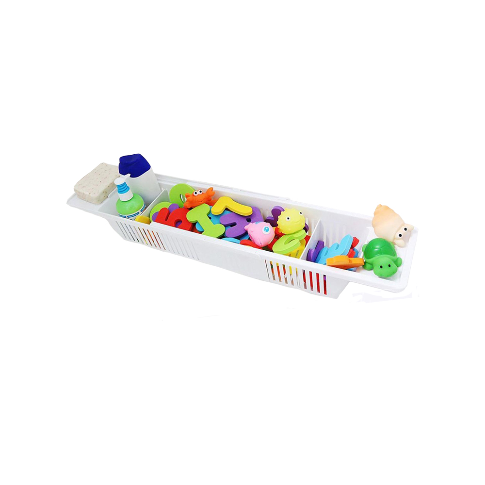 Adjustable Extendable Bath Toy Organizer <strong>Storage</strong> <strong>Basket</strong>