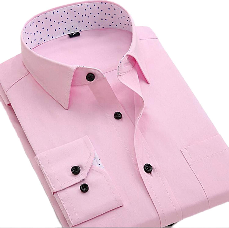 ouxiuli Men Short Sleeve Plaid Western Button Down Dress Shirts