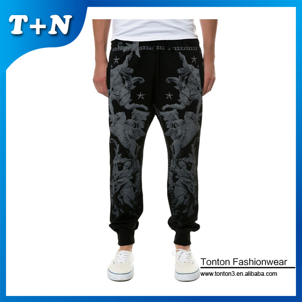 2015 outdoor slim mens fashion fleece black jogger pants