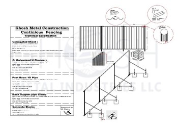 Gmi Corrugated Fencing Panels For Construction Sites In