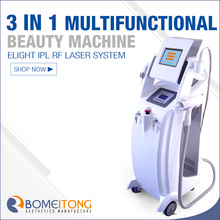 Vertical multifuctional beauty machine ipl / rf / yag laser treatment for acne