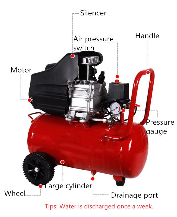 Best price wholesale 8 bar 24L electric portable compresor direct driven air compressor