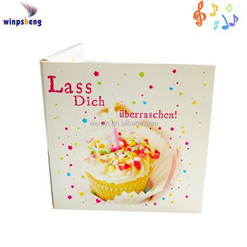 Happy Birthday Song Music Greeting Cardsound Greeting Card Buy