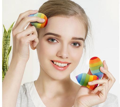 Rainbow Make up Sponge Foundation Sponge Cosmetic Puff Waterdrop Puff Powder Smooth Beauty Cosmetic Sponge фото