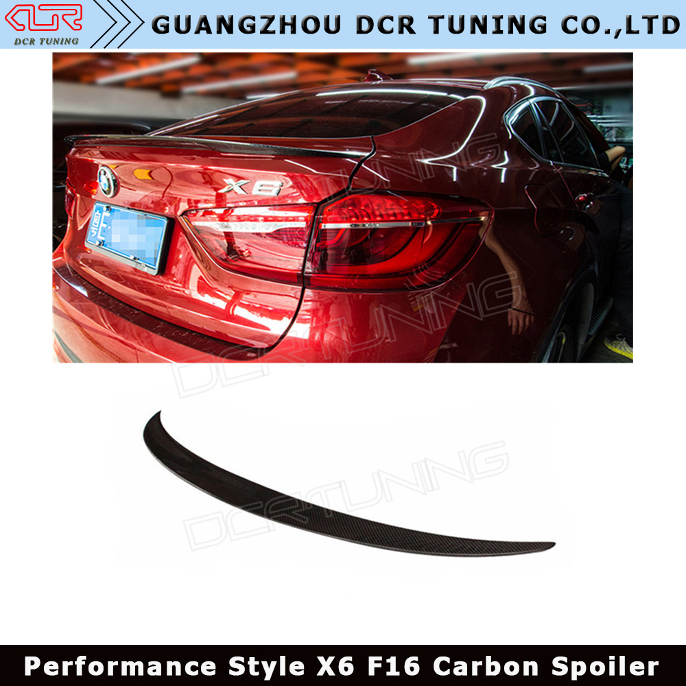USA Stock 08-14 E71 X6 5Dr SUV Performance Style Carbon Fiber Trunk Spoiler CF