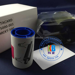High quality compatible cp40 cp60 cd800 plastic id card printer datacard CD800 ymckt color ribbon