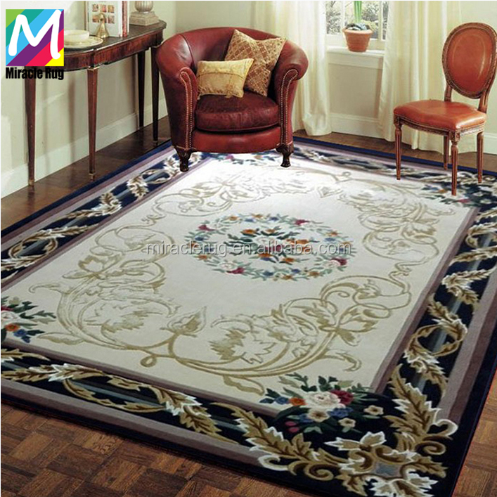 Luxury New Zealand Wool Persian Hand Made Carpet Custom Carpet rugs for Hotel Lobby