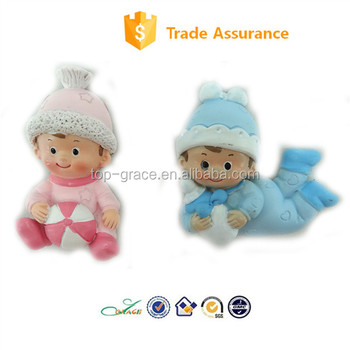 promotion gifts baby shower magnet souvenir resin baby figurines