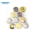 Factory direct sale custom logo metal leather jeans snap buttons for clothing