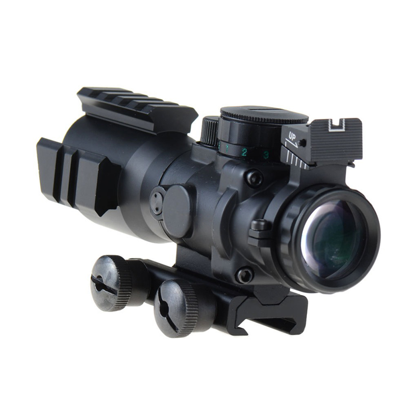 Tactical ACOG 4x32 Rifle Scope Military Shooting Red Green Dot Rifle scope, Black