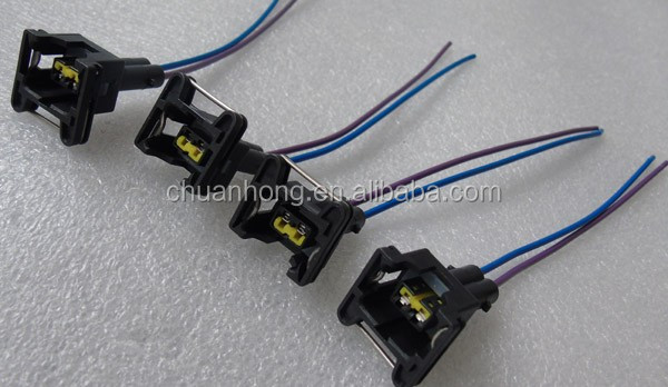 2 Way Fuel Injector Ignition Coil Connector Wiring Harness Plug Chips Ev1  Pigtail Obd1 Gm - Buy Gm Wire Connectors,Ignition Wiring Kit,Automotive