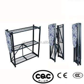 Folding Metal Storage Shelf With Mesh Ironing Board 3 Layers Rack Product On Alibaba