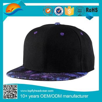 747c5788a65 high quality wholesale Beauty Starry sky visor 6 panel hip hop caps  snapback caps