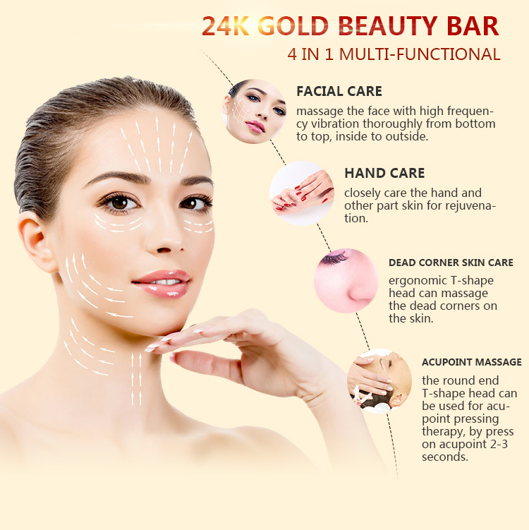 Gold beauty stick home beauty instrument MaryKay source manufacturer customized OEMODM