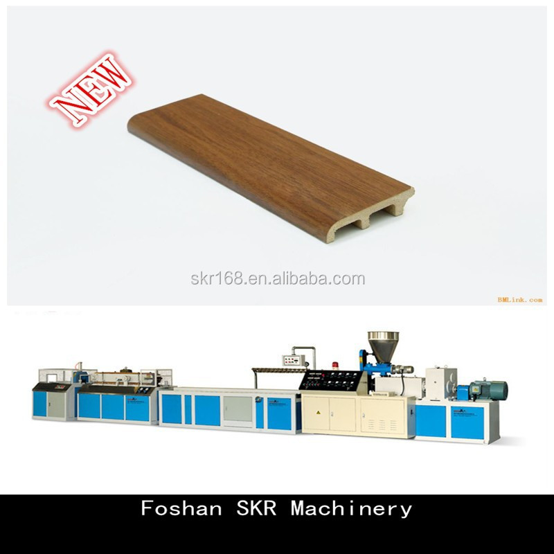 Skr Machinery Wpc Profile Production Line Wooden Plastic Extrusion