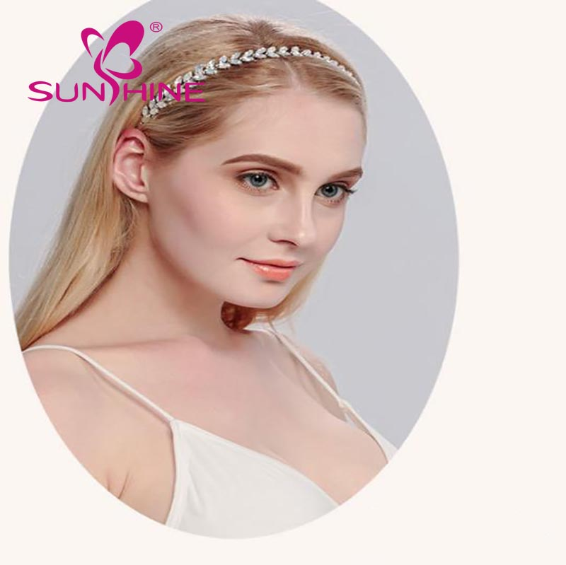 2017 new bride wedding headdress crystal stone hair band