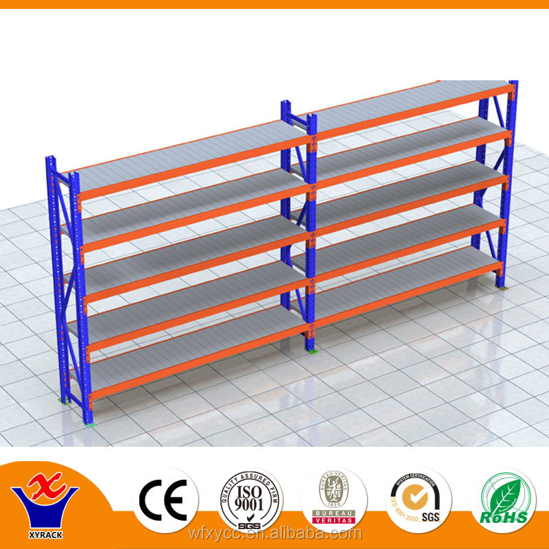 heavy duty iron pipe storage shelf for warehouse