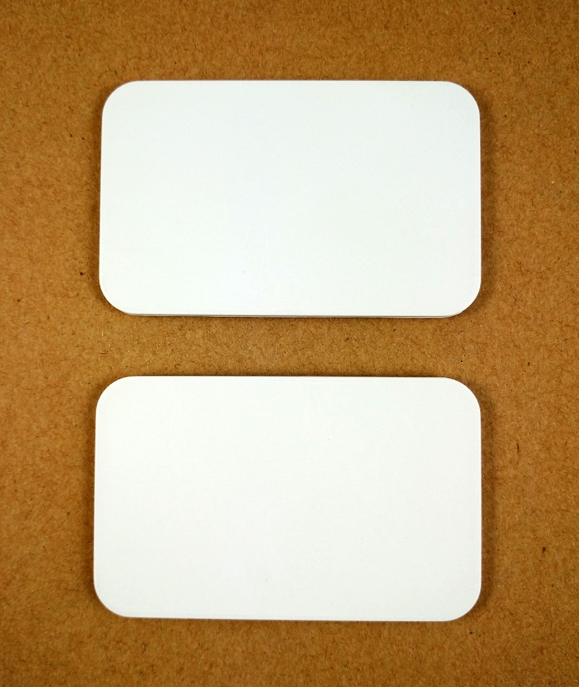 High quality blank ceramic rectangular plaque 80X50MM, blank rectangular ceramic poker chip