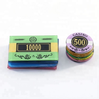 Hoge Kwaliteit Poker Dealer Acryl Poker Chips Casino Game Chips uit China Fabriek