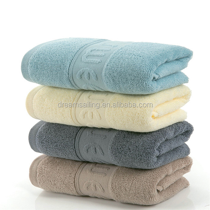 Zero pollution plus thick hotel cotton towel bath towels with custom embroidery logo