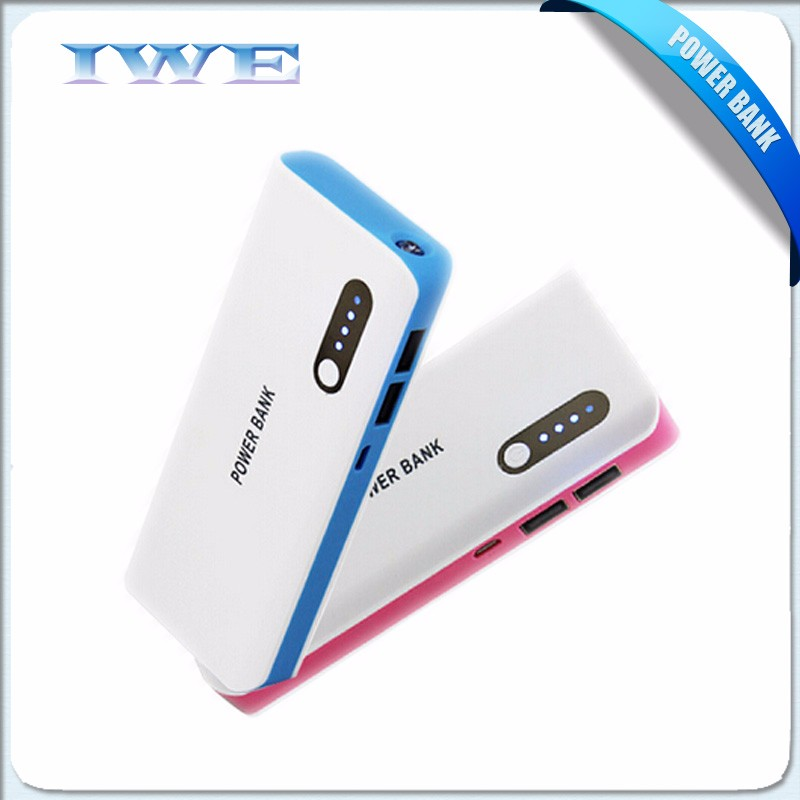 2016 Promotional gift universal portable power bank , Mobile Power Bank support custom External Battery 20000mah power bank