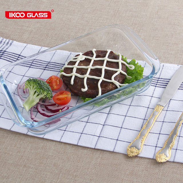 Easy cleaning rectangular glass plate