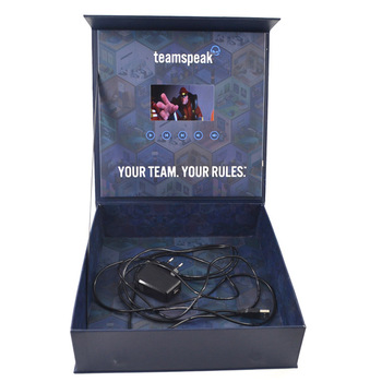 Jewelry Ring Business Gift Brochure Video Pack Box, Lcd Screen Video Box