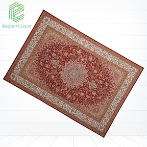 2018 elegant new polyester customized machine made Persian carpet, Persian carpet manufacturer