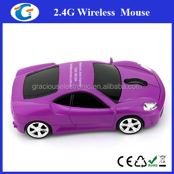 Wholesale alibaba race car custom logo wireless mouse