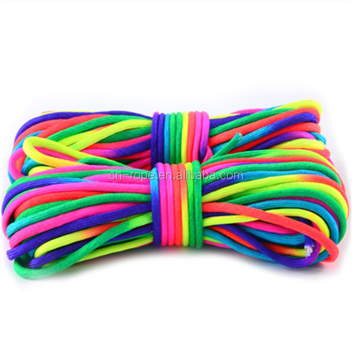 2018 Moda 4mm rainbow color rainbow ropes corda decorações