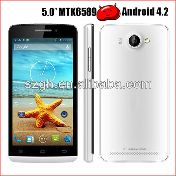 HY5001 MTK6589 Android 4.2.1 NEW quad core smart phone