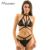 Missomo New Fashion Women Black Halter Top Sexy Choker lingerie Lace Underwear Straps Bralette Trim net bra panty for Wholesale