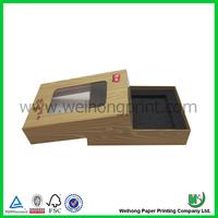 China Donguan supplier custom rigid box clear top wholesale