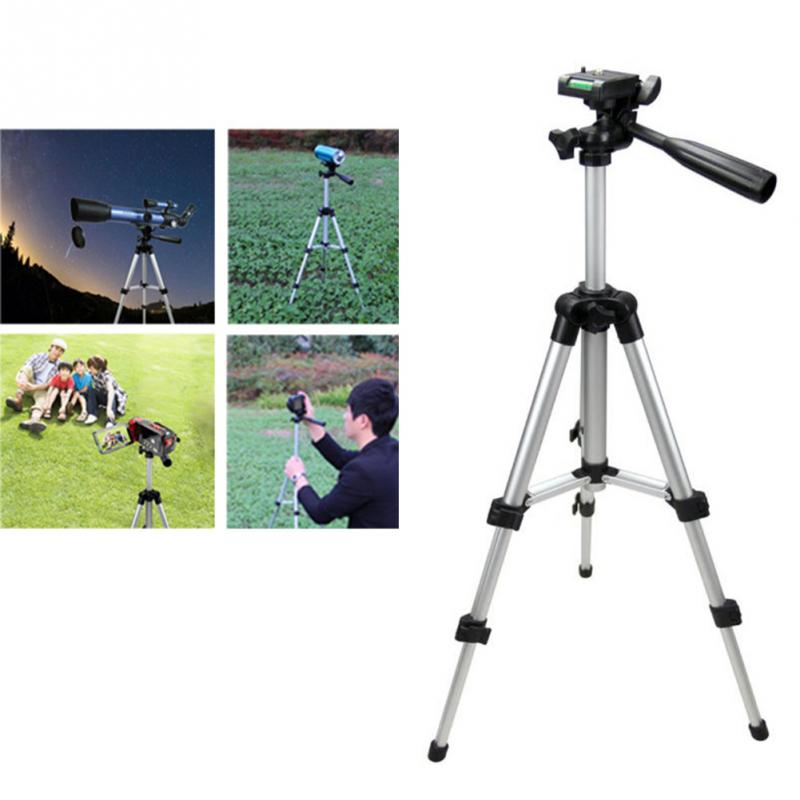 Lightweight aluminum portable and durable camera phone fishing light tripod