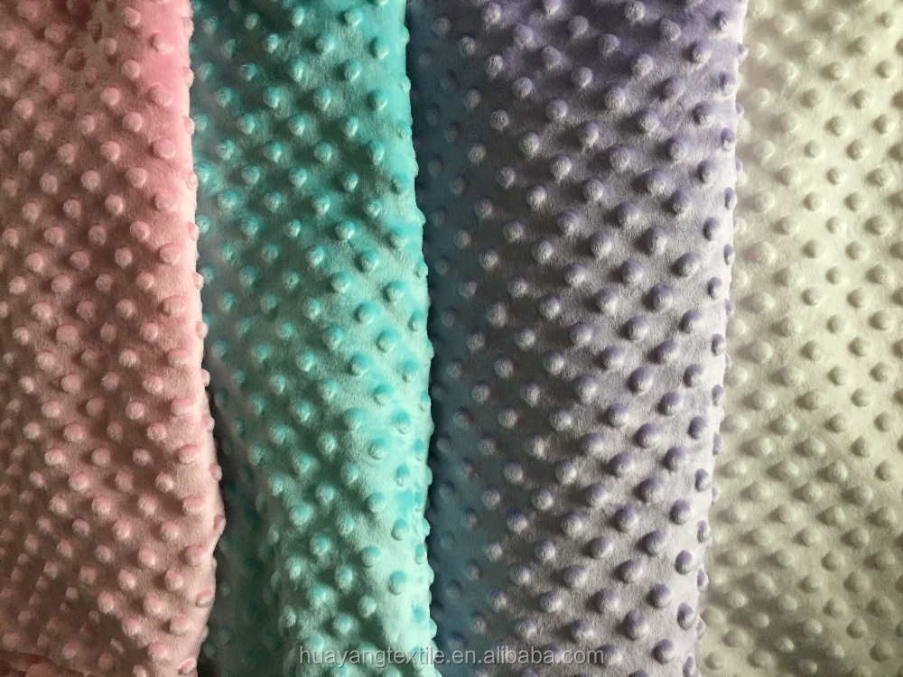 diferent colors good quality and cheap price wholesale minky fabric dot use for garment