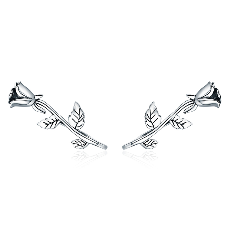 The <strong>Rose</strong> Love Stud <strong>Earrings</strong> Qings 925 Sterling Silver <strong>Flower</strong> <strong>Earrings</strong>