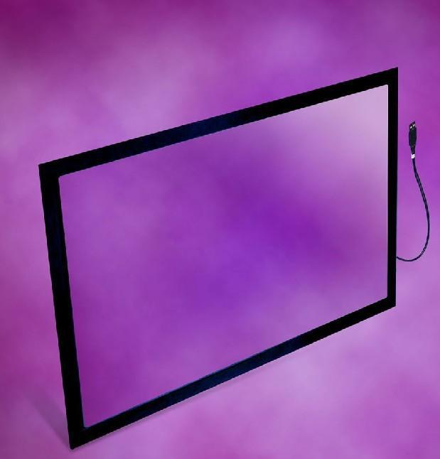 HOT 50 inch 10 points IR multi touch screen overlay kit with USB power for LCD