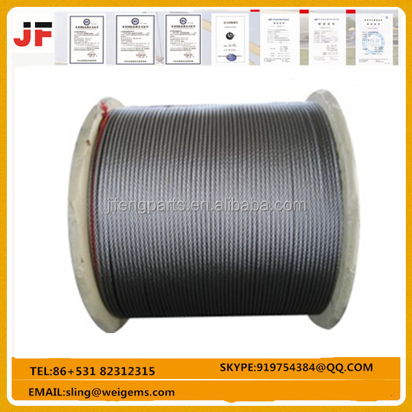 Safety Steel Wire Rope with Swaged End Terminals / Loops / Hooks / Flemish Eye
