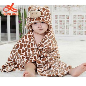 3810-2 new 3D neonatal cartoon animals baby hooded towel 100% cotton flannel baby blankets