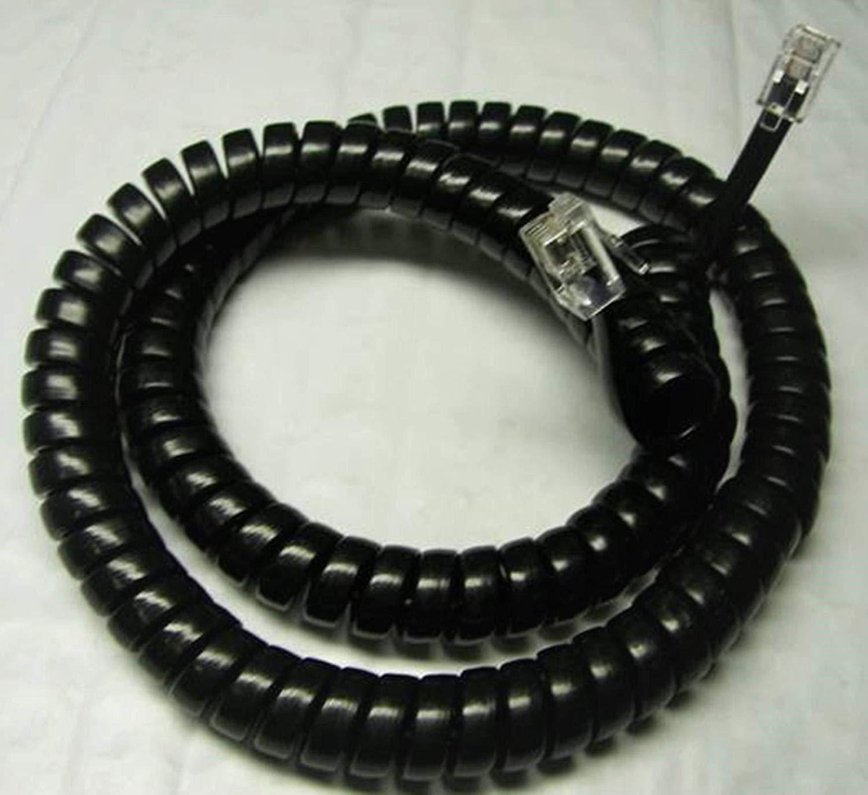 Lot of 50 Black 12' Ft Handset Cords for Shoretel IP Phone 100 110 115 210 212 212K 230 230G 265 480 480G 485 485G 530 560 560G 565 565G 655 (50-Pack) by DIY-BizPhones