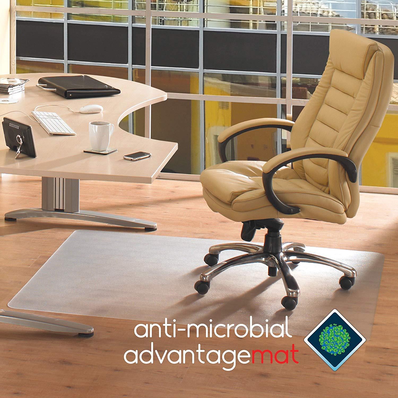 Cleartex Advantagemat Hard Floor Chair Mat - Hardwood Floor, Tile Floor, Linoleum Floor, Hard Floor, Floor, Home, Office - 53quot; Length x 45quot; Width - Clear