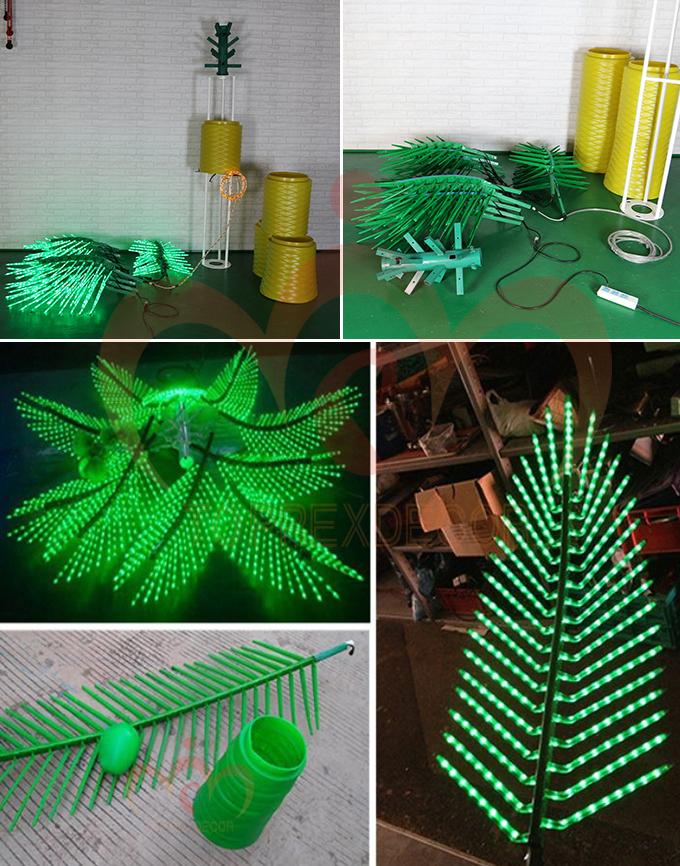 lighted palm tree