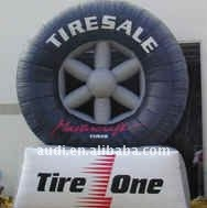 15' Tall Inflatable Tire With Logo