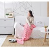 fashion hot sale mermaid tail blanket light pink ,knitted throw blanket for ladys