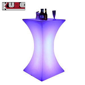 Event Party Used Lighting Furniture LED illuminated Bar Cocktail Table/Light Up Bar Table